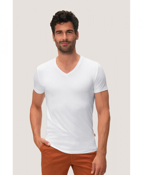 HAKRO Herren V-Shirt Stretch 272